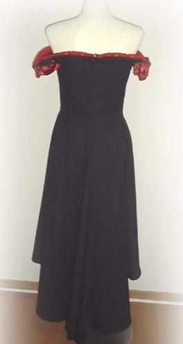コスプレ衣装:ちょびっツ 三巻特典ポストカード入れ黒いドレス